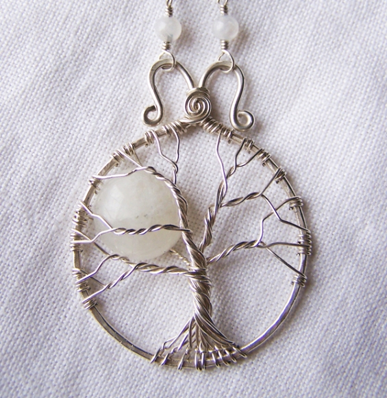 Full moon tree. Sterling silver and moonstone. 2013